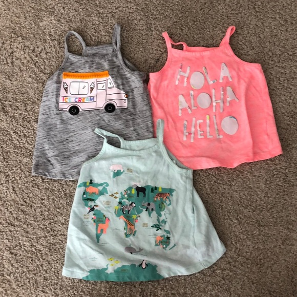 Cat and Jack size 2t tank tops! Worn once